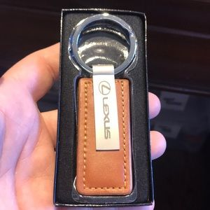 Brand New LEXUS Brown Leather Key Chain